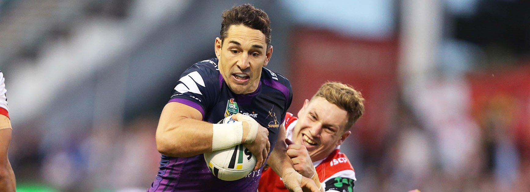 Billy Slater scored a double against the Dragons.