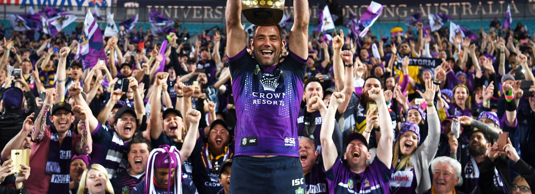Cameron Smith after Melbourne's NRL Grand Final win.