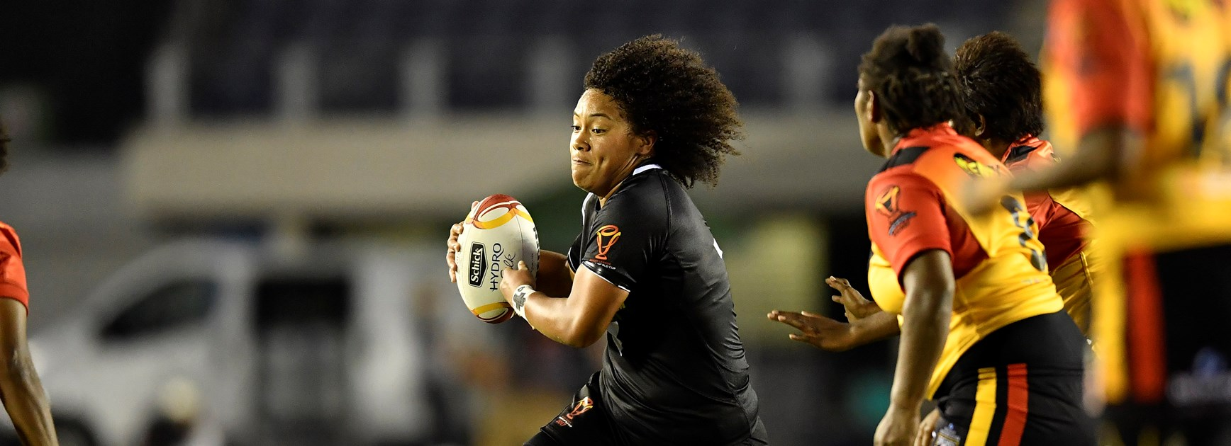 New Zealand's Teuila Fotu-Moala in action against Papua New Guinea.