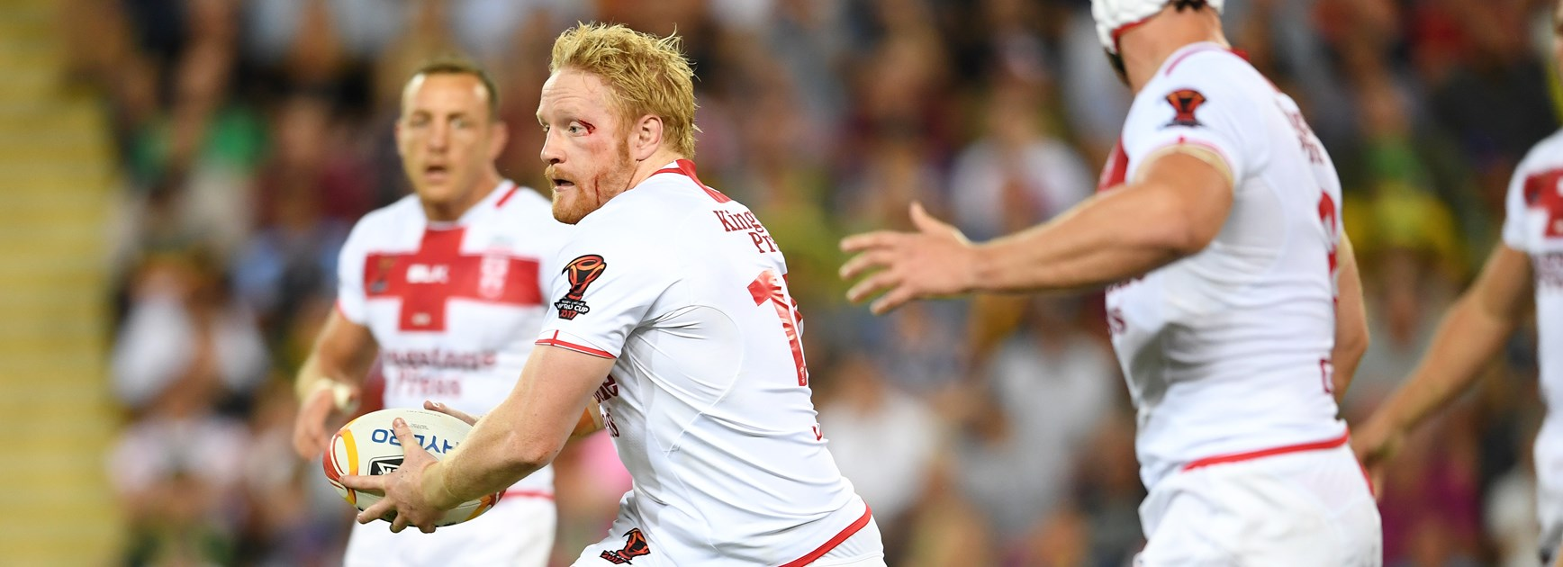 Dragons recruit James Graham in action for England at the World Cup.