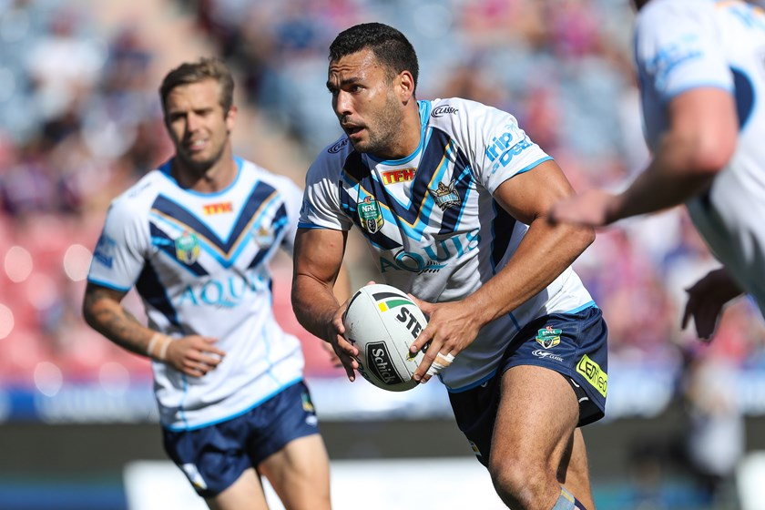 Gold Coast Titans forward Ryan James.