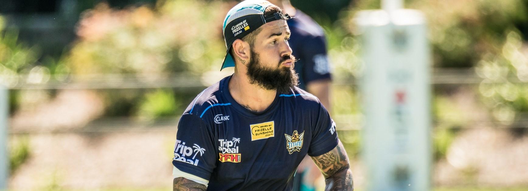 Gold Coast Titans hooks Nathan Peats.