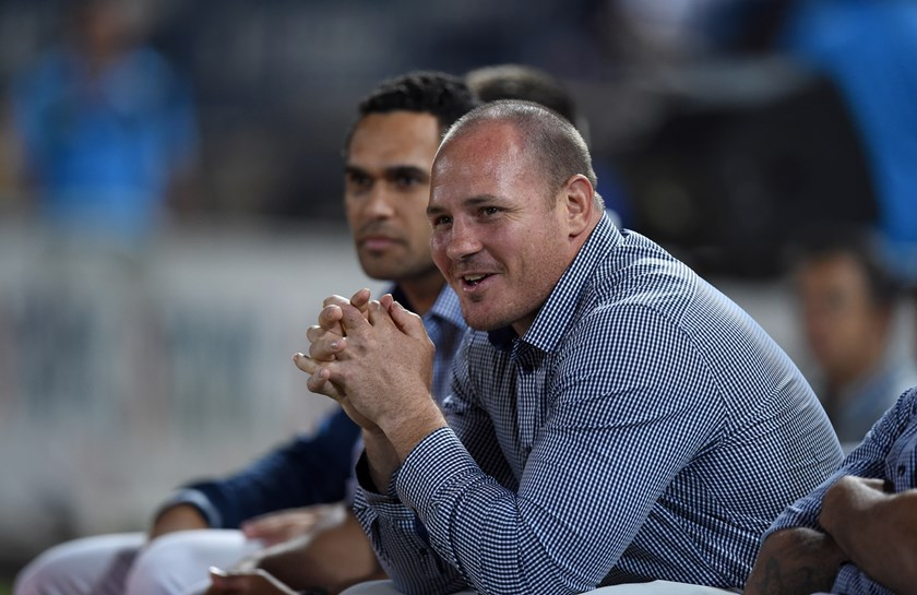 Cowboys prop Matt Scott on the sideline during a trying 2017.