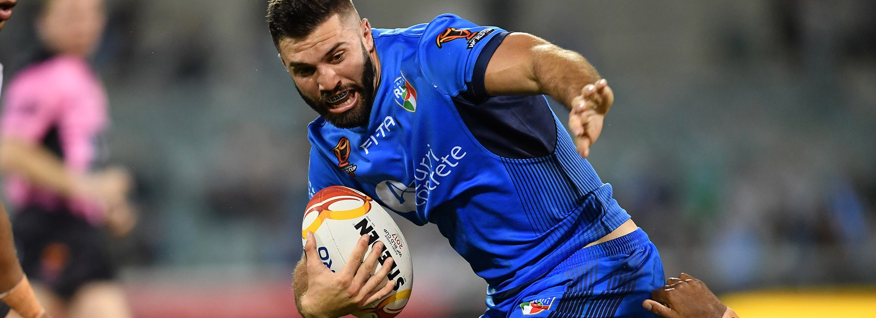 James Tedesco in action for Italy during the World Cup.