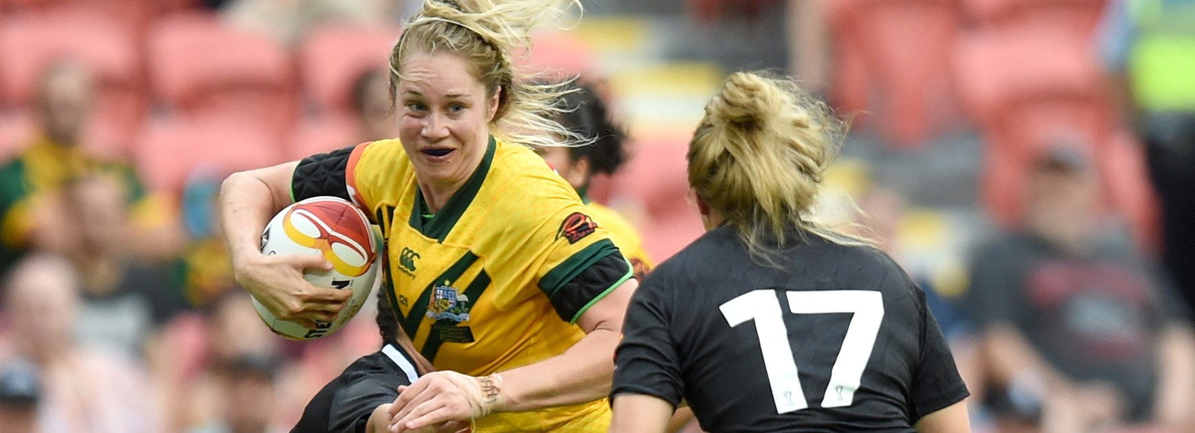 Jillaroos forward Kezie Apps.