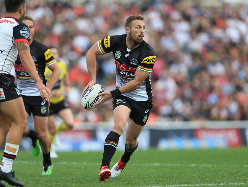 Bryce Cartwright passes for the Panthers.