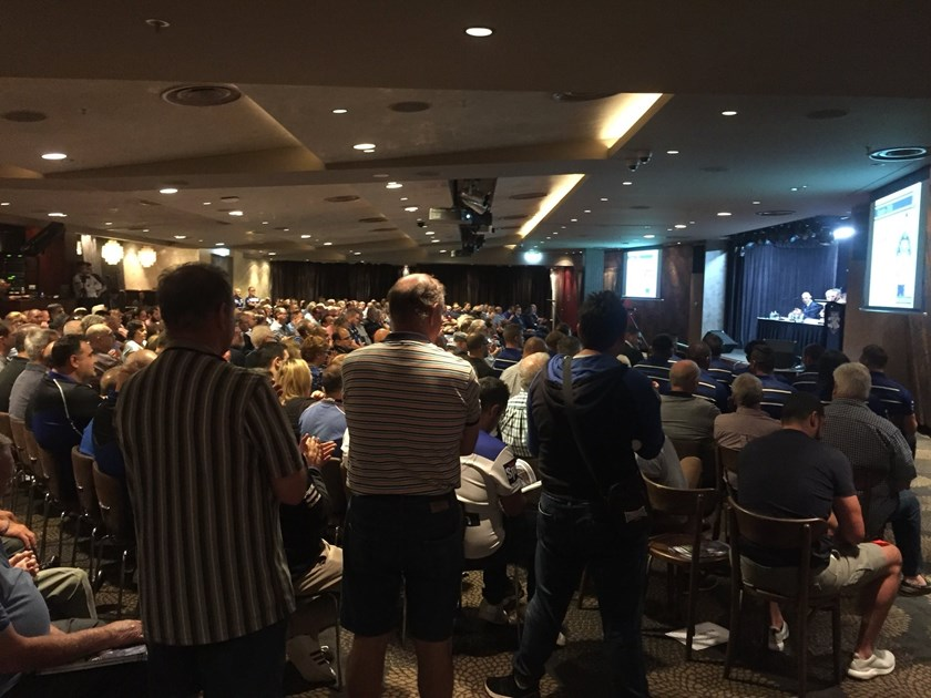 The annual general meeting at Canterbury Leagues Club.