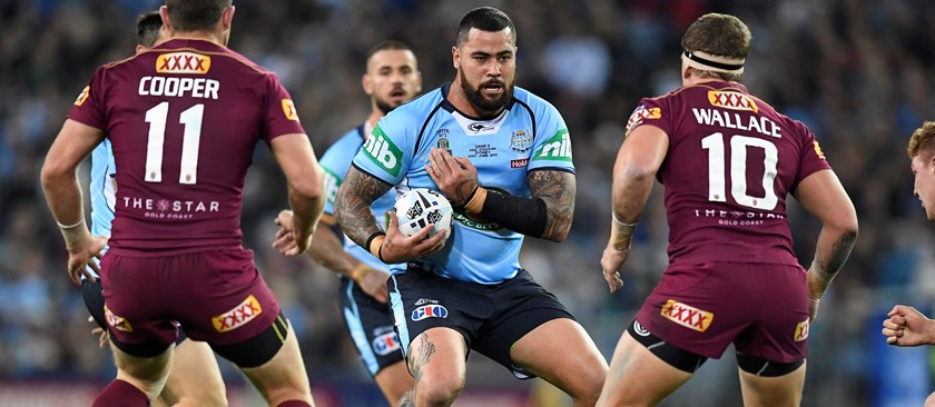 Andrew Fifita during the 2017 State of Origin series.