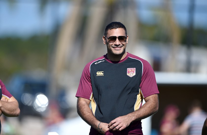 Maroons under 20 coach Justin Hodges.