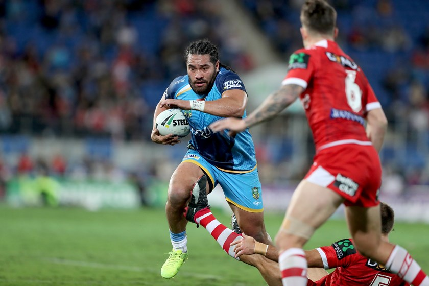 Konrad Hurrell in action for the Titans.