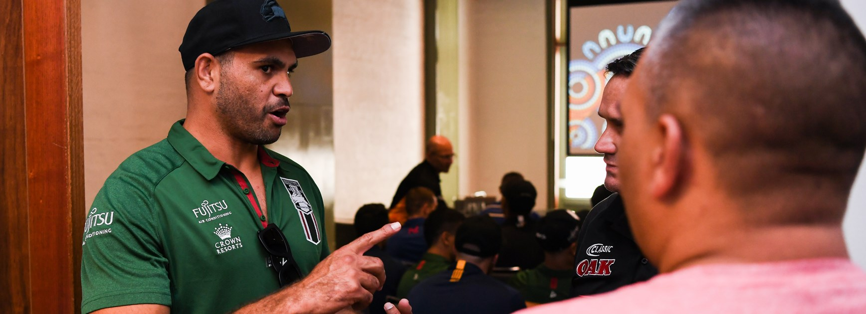 Greg Inglis at the Festival of Indigenous Rugby League.