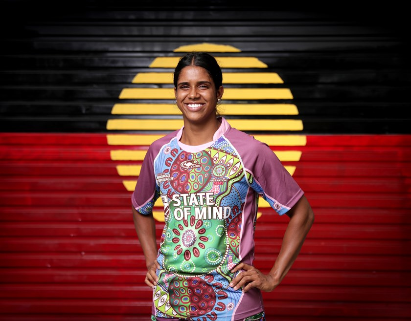 Taleena Simon will run out for the Gems at Redfern Oval.