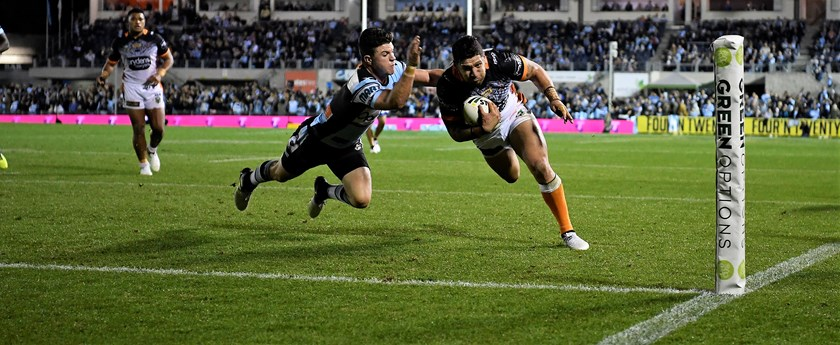 Wests Tigers speedster Malakai Watene-Zelezniak.