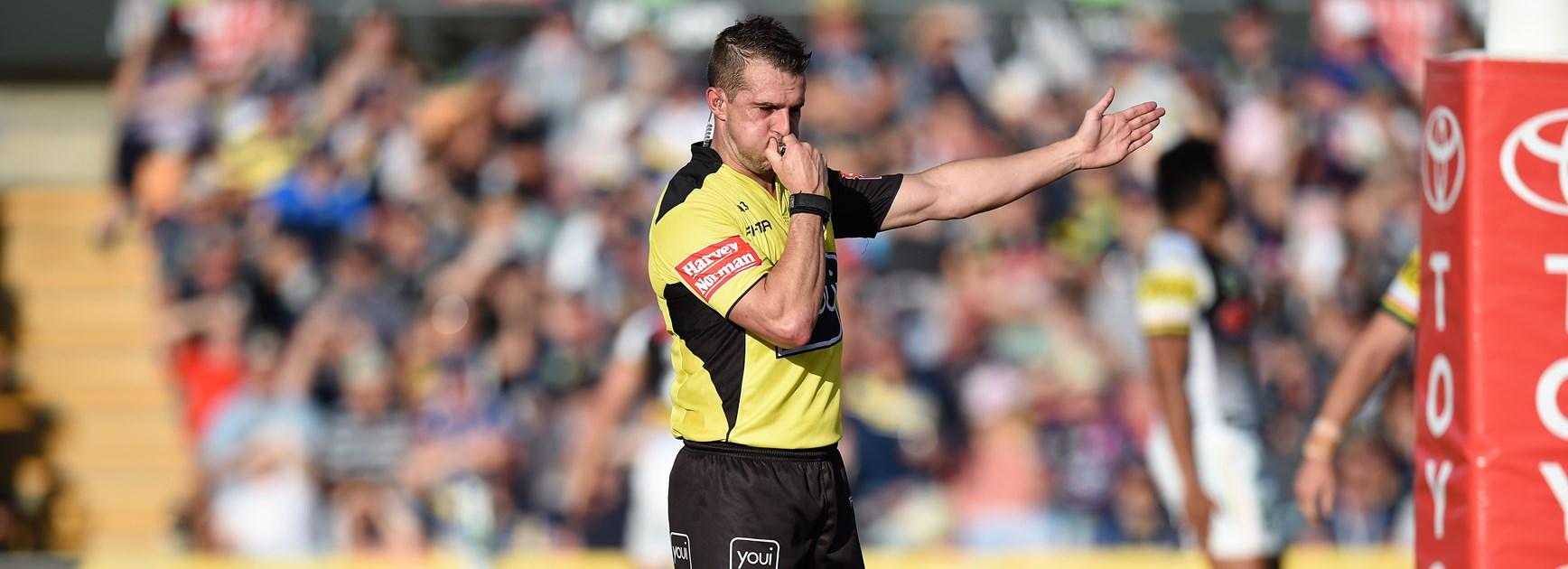 NRL referee Grant Atkins.