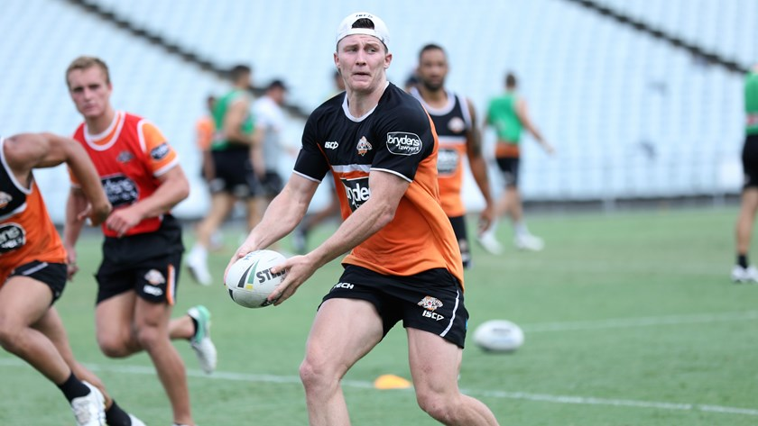 Wests Tigers forward Tyson Gamble.