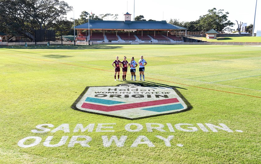 Women's State of Origin players at North Sydney Oval.