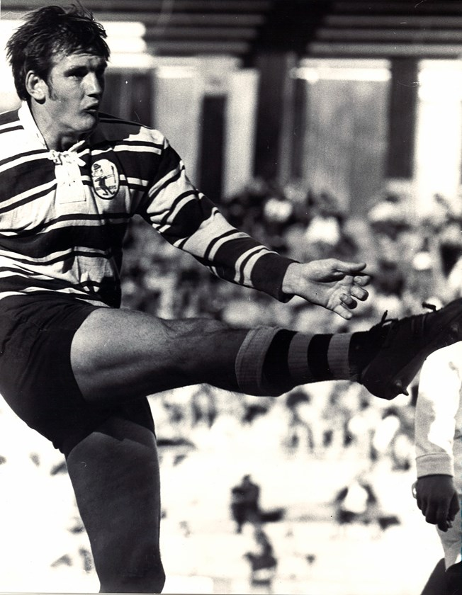 Wayne Bennett in his playing days in the Brisbane competition in the 1970s.