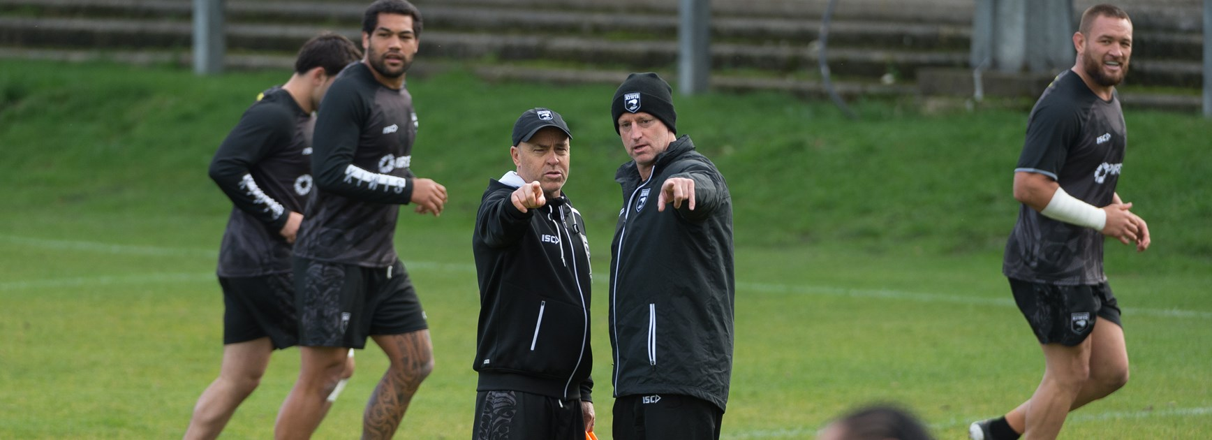 Kiwis coach Michael Maguire at training.