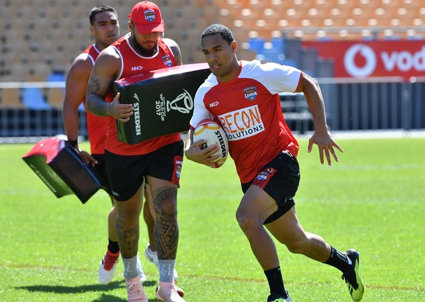 Tonga fullback Will Hopoate.