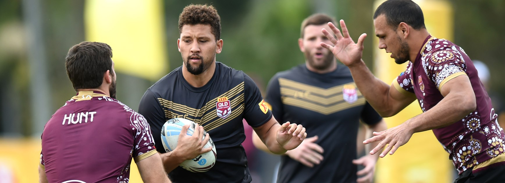 Broncos rookie Gehamat Shibasaki in action for Queensland residents.