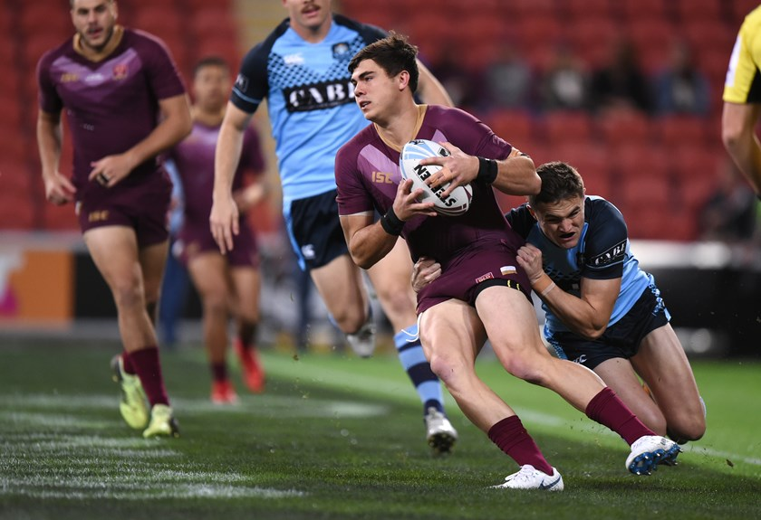 Jake Clifford playing for Queensland's under 20 team.