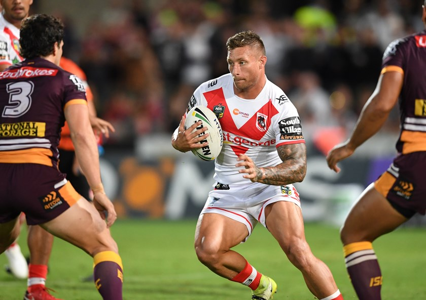 Dragons back-rower Tariq Sims.