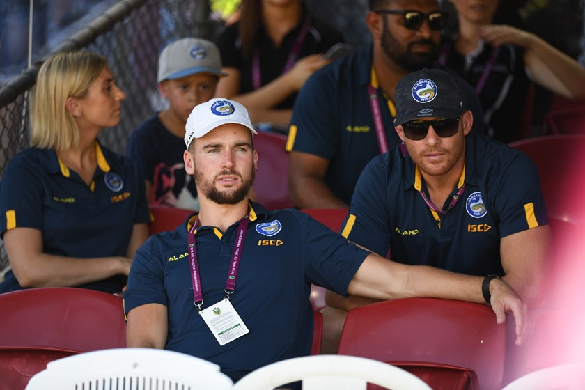 Injured Parramatta fullback Clint Gutherson.