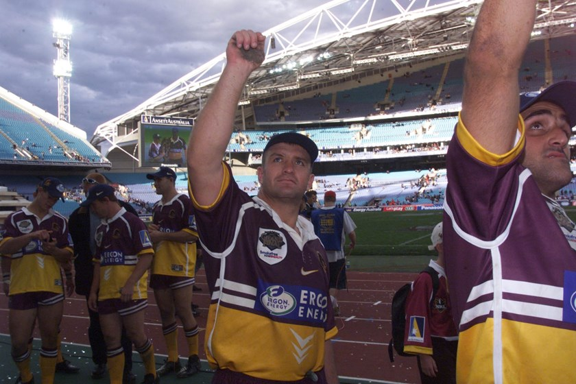 Shane Webcke after the 2000 grand final.