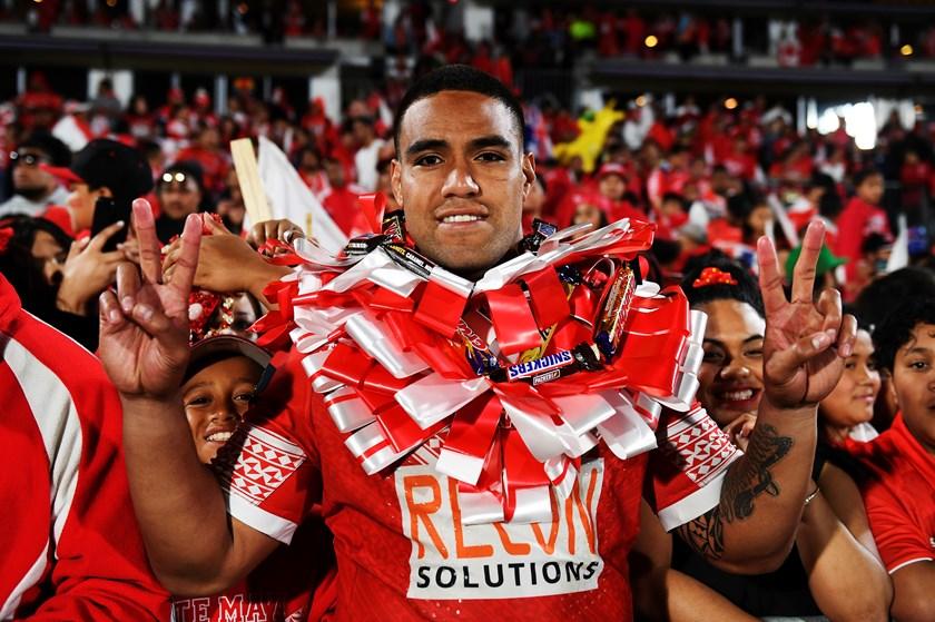 Tonga forward Joe Ofahengaue.