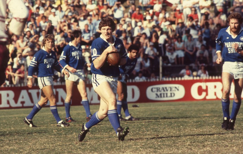 Phil Gould in action for Newtown.
