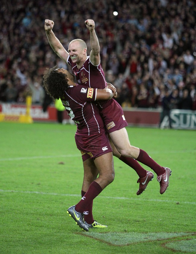Queensland's Darren Lockyer at the end of the 2011 series.