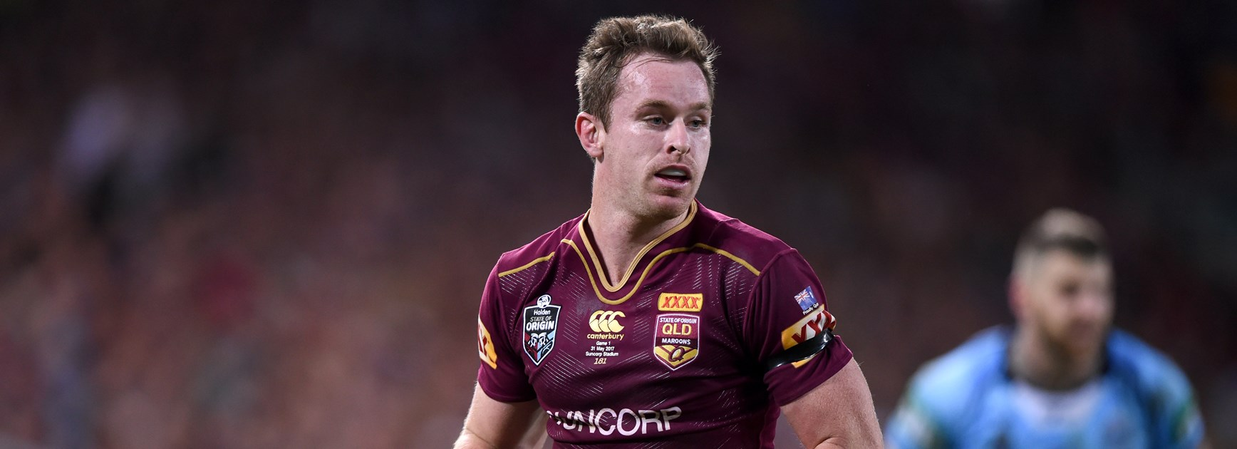 Michael Morgan playing for Queensland.