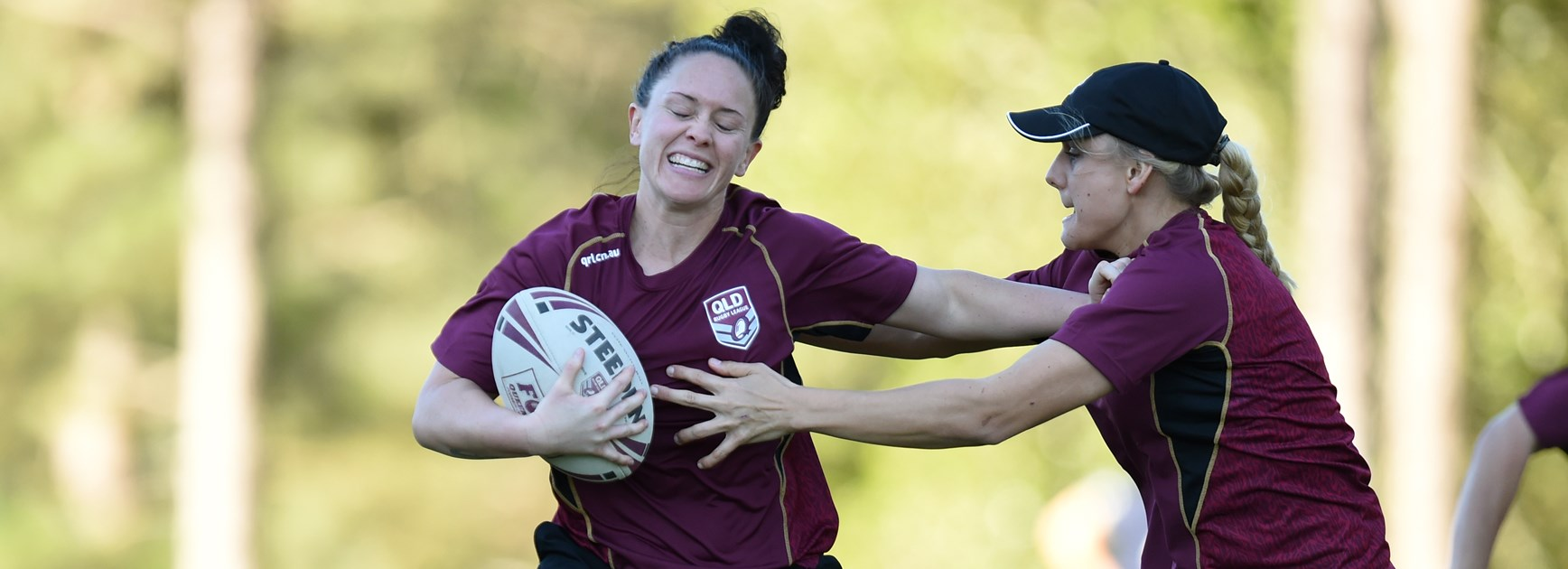 Maroons player Brittany Breayley.