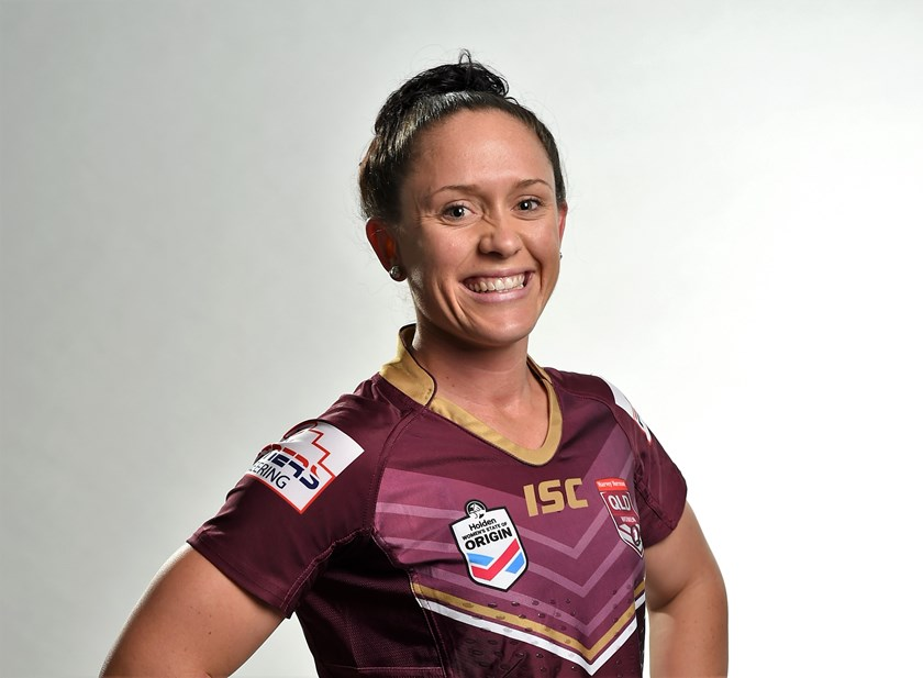 Queensland Maroons player Brittany Breayley.