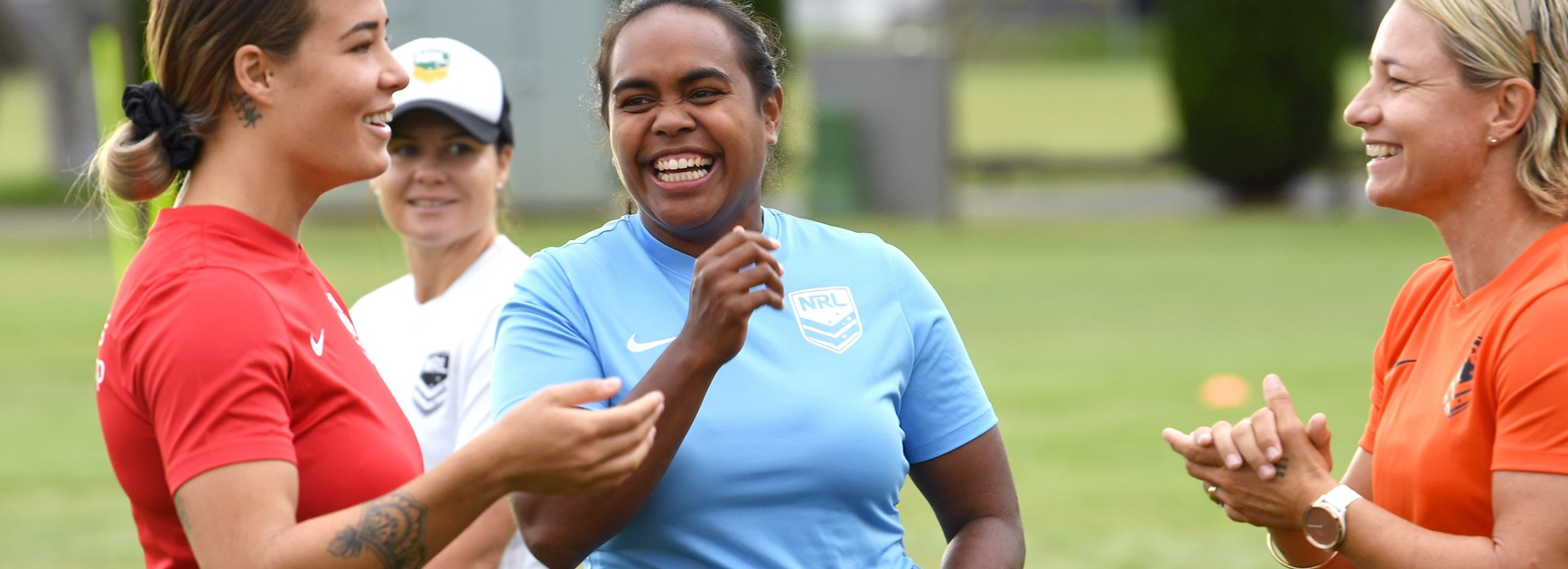NSW Blues five-eighth Lavina O'Mealey.