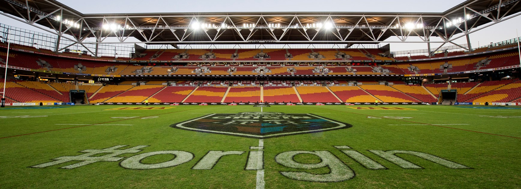 Brisbane Suncorp Stadium ahead of State of Origin I, 2017.