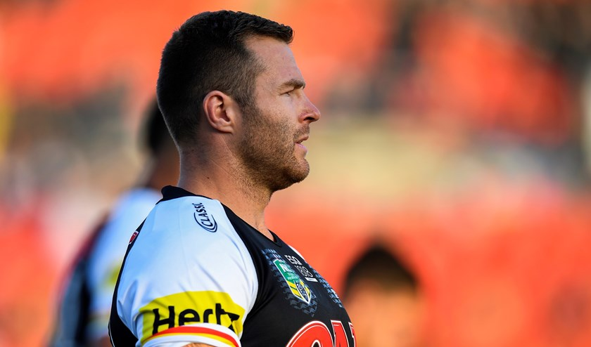 Panthers lock Trent Merrin.