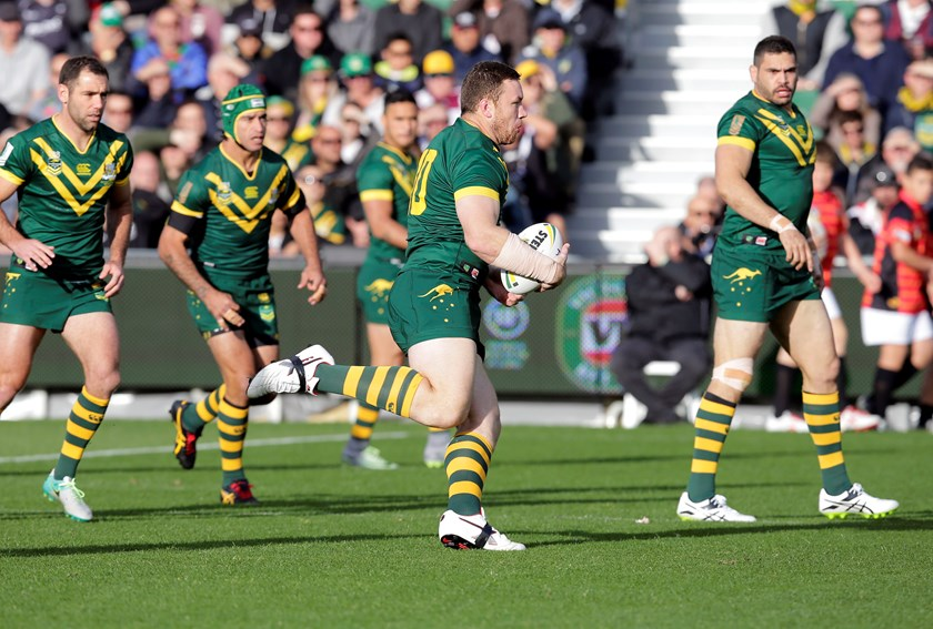 Canberra's Shannon Boyd in action with the Kangaroos in 2016.