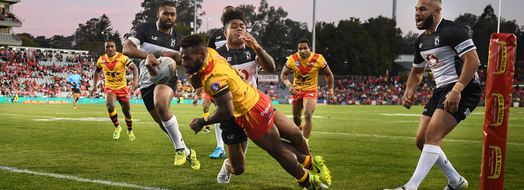 Junior Rau scores on debut for Papua New Guinea.
