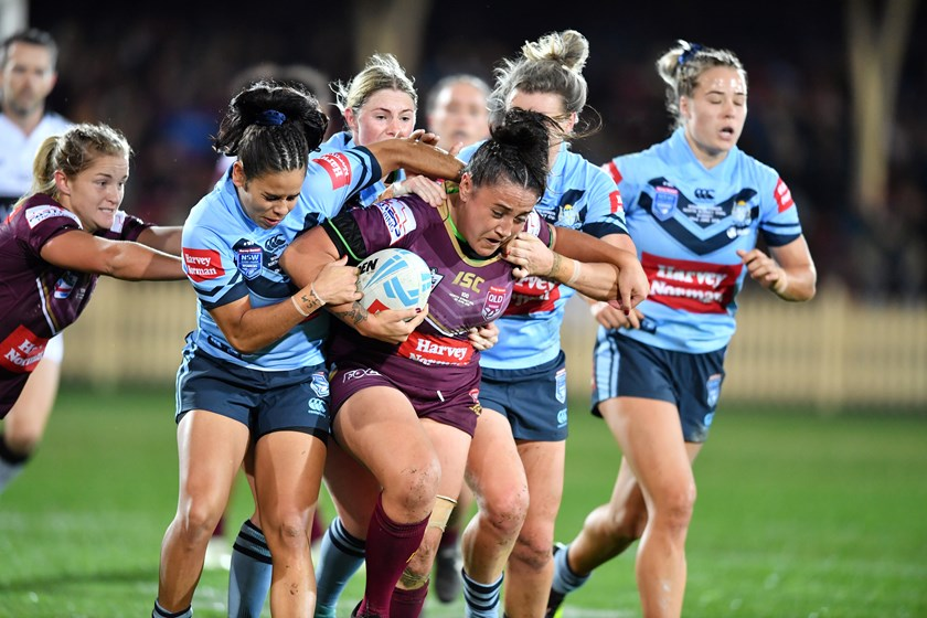 The inaugural Women's State of Origin clash at North Sydney proved a great success.