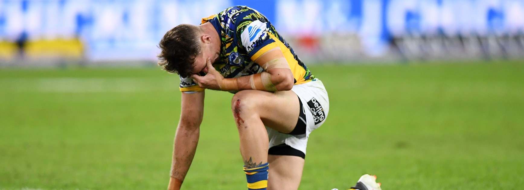 A shattered Eels fullback Clint Gutherson.