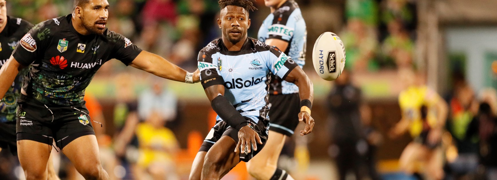 Sharks hooker James Segeyaro.