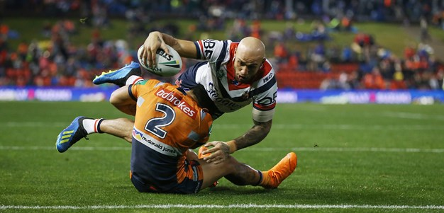 Ferguson bags a double as Roosters edge Knights