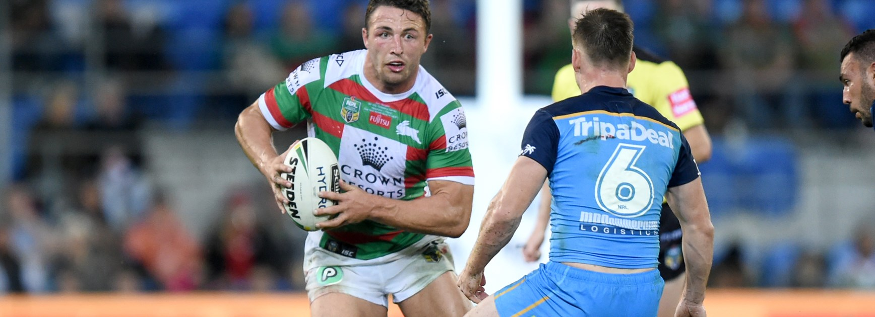 Rabbitohs back-rower Sam Burgess.