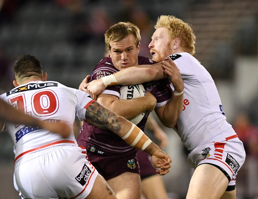 Sea Eagles lock Jake Trbojevic.