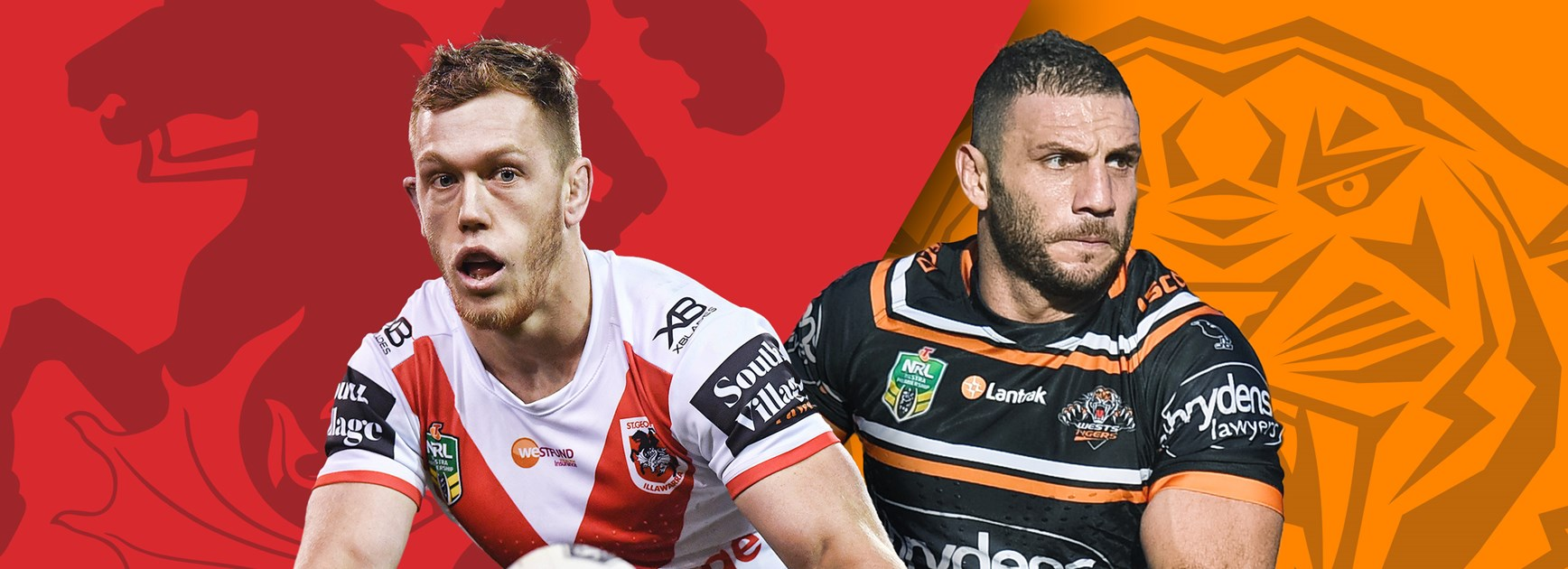 Dragons v Wests Tigers: Red V name big guns, Marshall and Matulino back