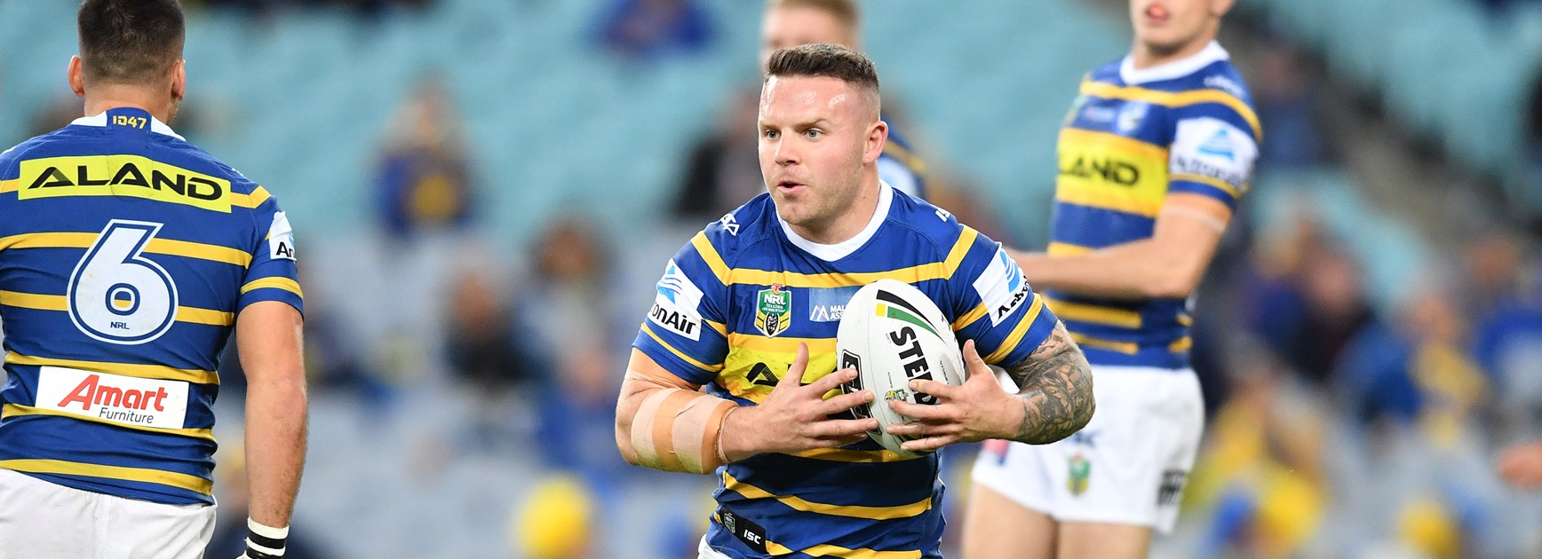 Eels lock Nathan Brown.
