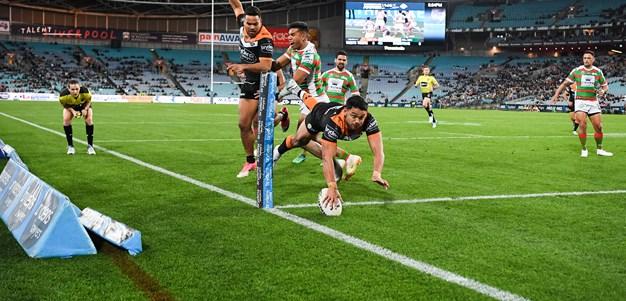 Wests Tigers defy injuries to stun Rabbitohs in milestone game