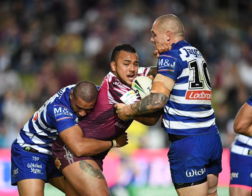 Sea Eagles prop Addin Fonua-Blake.
