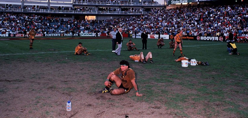 The Balmain Tigers after the 1989 grand final.